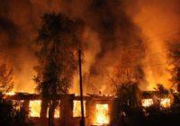 В поселке Колодезном Каширского района у местного жителя загорелся сарай