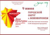 Приглашаем на День культуры Нововоронежа!