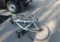 Вчера произошло столкновение велосипедиста и автомобиля «Нива»